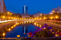 Summer night in Bucharest Royalty Free Stock Photo