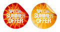 Summer offer stickers. Stock Image