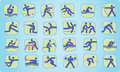 Summer Olympic icons Royalty Free Stock Images