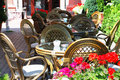 Summer open air cafe Stock Image