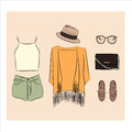 Summer outfit set.