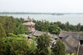 Summer palace and lake kunming beijing view from top of in china Royalty Free Stock Photo
