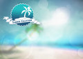 Summer paradise background holiday travel party or fashion poster with space Stock Photography