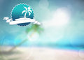 Summer paradise background holiday travel party or fashion poster with space Stock Images