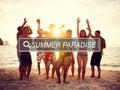 Summer Paradise Celebration Party Freedom Concept Royalty Free Stock Photo