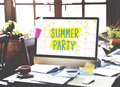 Summer Party Celebration Summertime Beach Concept Royalty Free Stock Photo