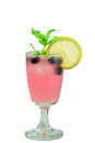 Summer party drink cold fresh blueberry lemonade with mint Stock Photography