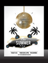 Summer party flyer template vector illustration Royalty Free Stock Photography