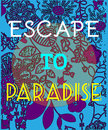 Summer Party Invitation Escape to Paradise. Royalty Free Stock Photo