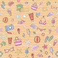 Summer pattern design with themed elements Stock Image