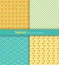Summer patterns seamless blue and yellow fabric Royalty Free Stock Images