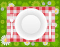 Summer picnic design vector illustration of separate layers for easy editing Stock Photography