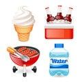Summer Picnic Food Icons Set Royalty Free Stock Photo