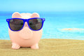 Summer piggy bank Stock Photography
