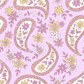 Summer pink paisley floral textile pattern seamless can be used for wallpaper fabrics paper craft projects web page background Stock Image