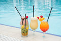 Summer pool cocktail Royalty Free Stock Photo