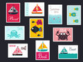 Summer postage stamps Stock Image