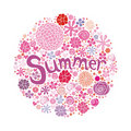 Summer postcard Royalty Free Stock Photography