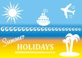 Summer poster vector with beach and sea background Royalty Free Stock Image