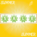 Summer promotional design element vector Royalty Free Stock Photos