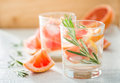 Summer refreshing drink and ingredients copy space Royalty Free Stock Photography