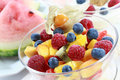 Summer refreshment - fruit salad Stock Images