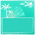 Summer resort card Royalty Free Stock Photos