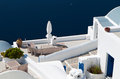 Summer resort of Santorini in Greece Royalty Free Stock Photography