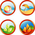 Summer rest icons Stock Photo