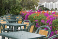 Summer restaurant in terrace Royalty Free Stock Photo