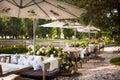 Summer restaurant terrace Royalty Free Stock Photo