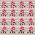 Summer retro floral seamless pattern (roses) in the style shabby Chic, provence, boho. Royalty Free Stock Photo