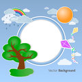 Summer round background vector for your own design Royalty Free Stock Photos