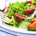 Summer salad with colorful cherry tomatoes Stock Image