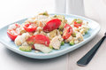 Summer salad with tomatoes avocado and hearts of palm horizontal Royalty Free Stock Photography