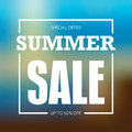 Summer sale badge, label, promo banner template vector