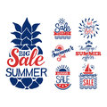 Summer sale badge vector.