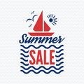 Summer sale badge vector.