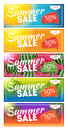Summer Sale end of Season Banner. Business Discount Card Templat Royalty Free Stock Photo