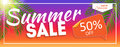 Summer Sale end of Season Banner. Business Discount Card. Vector Illustration Royalty Free Stock Photo