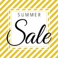 Summer sale on golden white stripes pattern