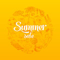 Summer sale hand drawn vector illustration sketch Royalty Free Stock Photo