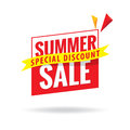 Summer Sale heading design for banner or poster. Sale and discou