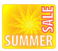 Summer sale information message for customers Royalty Free Stock Photo