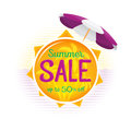 Summer Sale label price tag banner badge template sticker design