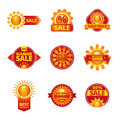 Summer sale labels set Royalty Free Stock Photo