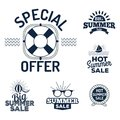 Summer sale clearance vector badges Royalty Free Stock Photo
