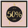 Summer Sale Luxury black,pink and gold Banner, for Discount Poster, Fashion Sale, backgrounds, in vector
