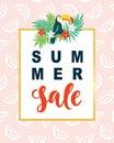 Summer Sale Modern Banner Template Background