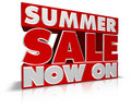 Summer Sale Now On Royalty Free Stock Photos